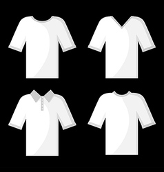 shirt white set vector image