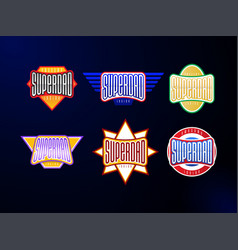 sport emblem typography set super dad hero vector image