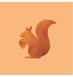 squirrel holding an acorn high-quality vector image