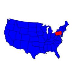 State pennsylvania location vector
