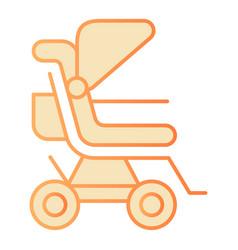 Stroller flat icon bapushchair orange icons in vector