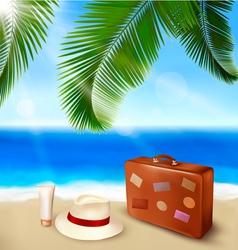 summer beach tourism vector image