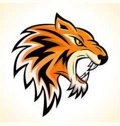 Tiger head mascot concept vector
