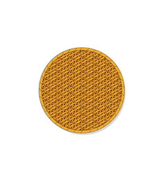 Top view isolated circle rattan tray vector