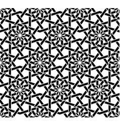 traditional arabic black and white seamless vector image