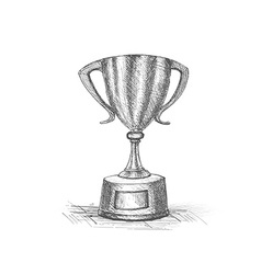 Trophy hand draw Icon vector