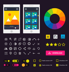 user interface phone laptop tab device vector image