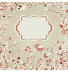 vintage roses card vector image