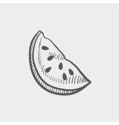 Watermelon sketch icon vector image