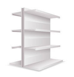 white empty store 3d trade shelves space realistic vector image