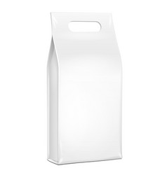 white plastic foil paper food bag package of vector image