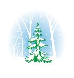 Winter fir-tree vector