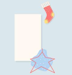 Winter holiday greeting social media simple story vector