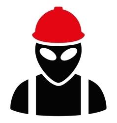 Alien builder flat icon vector