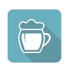 Beer icon square vector image