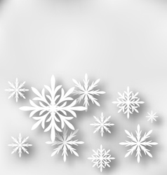 Christmas greeting card with paper snowflakes vector image vector image