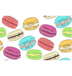 seamless texture with a drawing of multicolored vector image