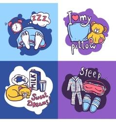 Sleep time design concept vector