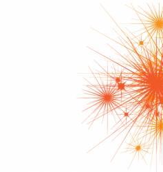star burst side background vector image vector image