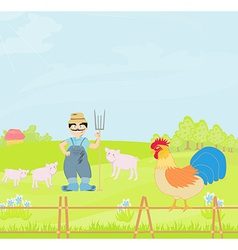 Cartoon Farmer Character vector image