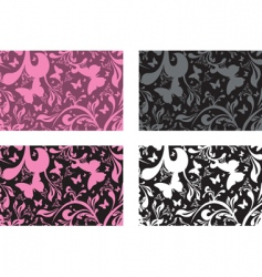 floral boxes vector image