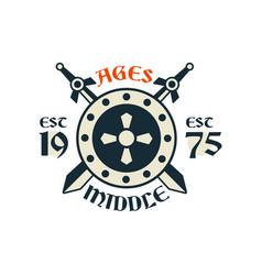 Middle ages logo esc 1975 vintage badge or label vector