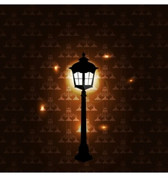 Vintage background with lantern vector image