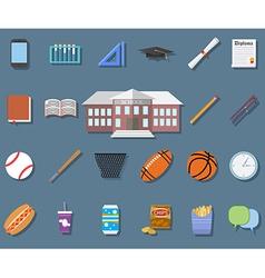 Back to School Flat design modern school building vector image vector image