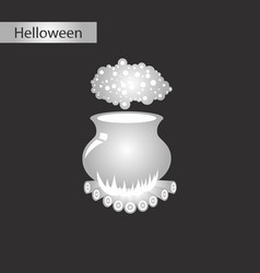 black and white style icon of potion cauldron vector image vector image