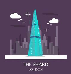 famous london landmark the shard vector image