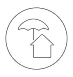 House under umbrella line icon vector image vector image
