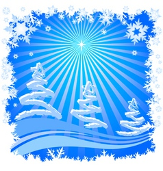 xmas card illustration in vector vector image vector image