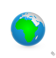 continent africa vector image