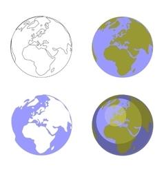 Earth globe set 001 vector image