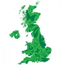 floral Britain vector image vector image