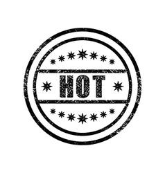 Hot damaged stamp vector image