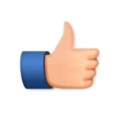 Like icon emoji thumb up symbol vector image vector image