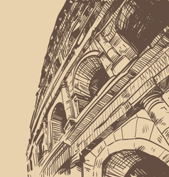 Rome Coliseum drawing vector image vector image