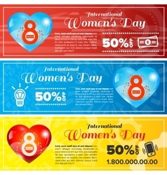 Women day banners set vector image