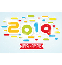 2019 happy new year written vector image