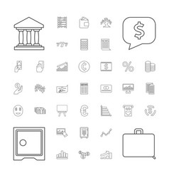 37 finance icons vector