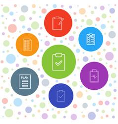 7 checklist icons vector