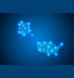 Abstract blue background with map internet line vector