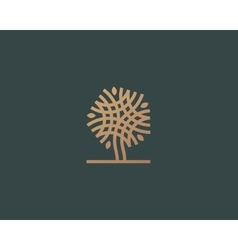 Abstract linear tree logo icon design vector