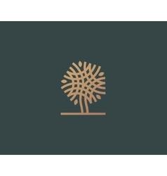 Abstract linear tree logo icon design vector