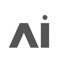 Ai letter artificial intelligence vector