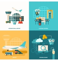 Airport icon flat vector
