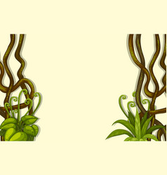 Background design with vine and leaves vector