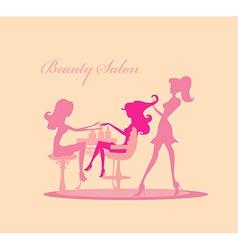 Beautiful woman in beauty salon vector