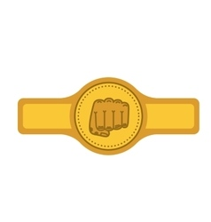 Belt boxing isolated icon design vector